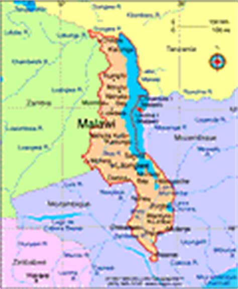 geographical map of malawi malawi maps history geography government culture