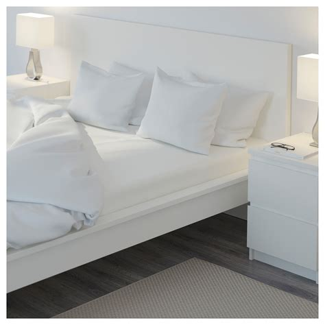 bed sheet materials nattjasmin fitted sheet white 160x200 cm ikea