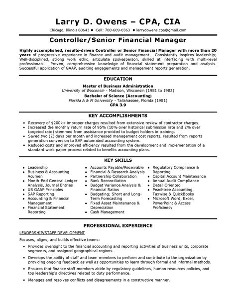 Controller Resume by Corporate Controller Resumes Bongdaao