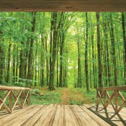wall murals uk walltastic woodland forest wallpaper mural