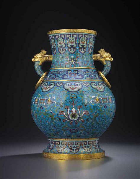 Large Cloisonne Vase by A Large Cloisonne Enamel Lotus Vase Qianlong Period