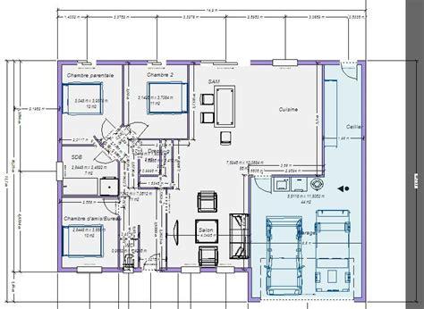Plan Pavillon 100m2 by Plan Maison Plain Pied 100m2 Votre Avis 87 Messages