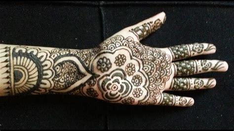 simple bridal henna easy full hand indianpakistani mehndi design youtube