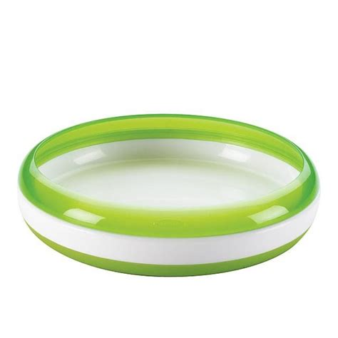 Oxo Tot Plate by Oxo Tot Plate Green Babyonline