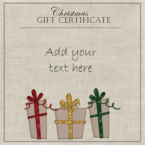 template for alternative gift card free gift certificate template customize