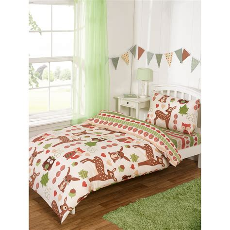 Woodland Bedding by Complete Single Bed Set Woodland Duvet Covers
