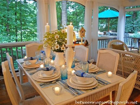 summer table settings summertime table setting tablescape on the porch