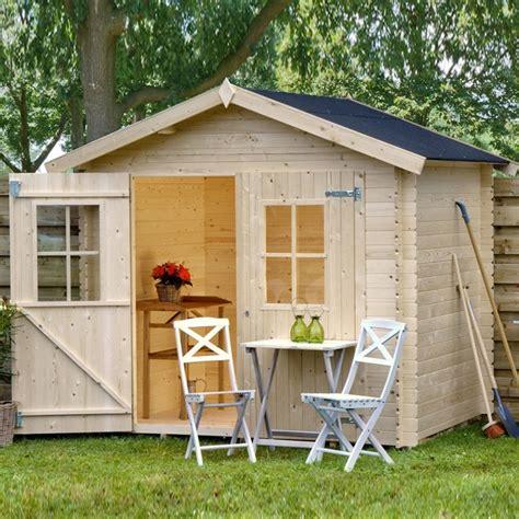 casette in legno prefabbricate da giardino casetta da giardino in legno 238x238x227 h quot fina quot garten