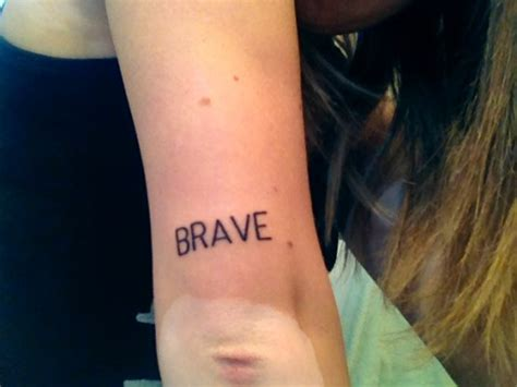 be brave tattoo be brave tattoologist