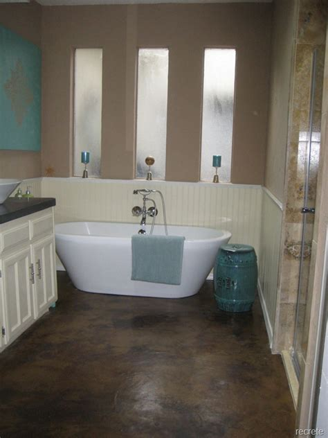 stained concrete bathroom matte sealed concrete stained floor