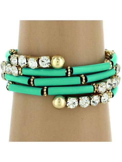 Steunk Vire Bracelet Turquoise Gelang 1000 images about memory wire inspiration on turquoise bracelets and beaded wrap