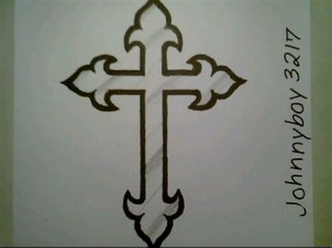 how to draw a cross tattoo how to draw a cross step by step crucifix for