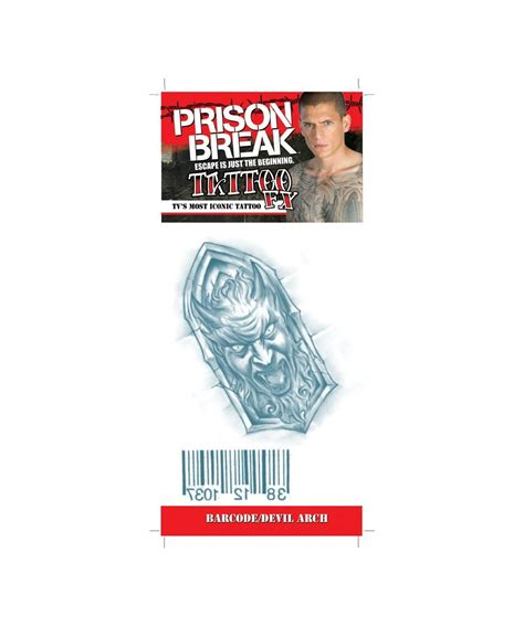 barcode tattoo satanic devil prison break bar code arch tattoo devil halloween