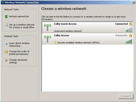 configure xp internet access connecting to colby access microsoft windows xp with