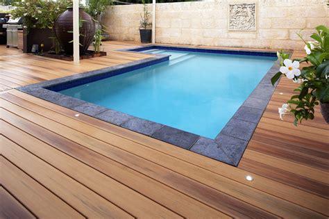 pool deck pool decking perth pool spa decks wa timber decking