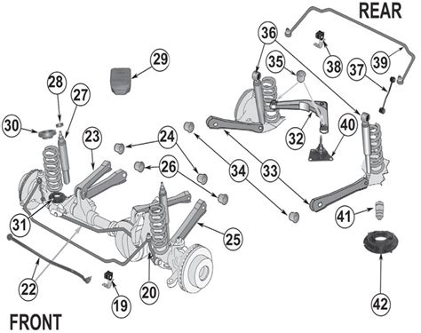 2001 jeep grand front end diagram jeep grand wj suspension parts 99 04 quadratec