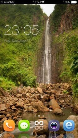 Themes Mobile Waterfall | download free beautiful waterfall clauncher android mobile