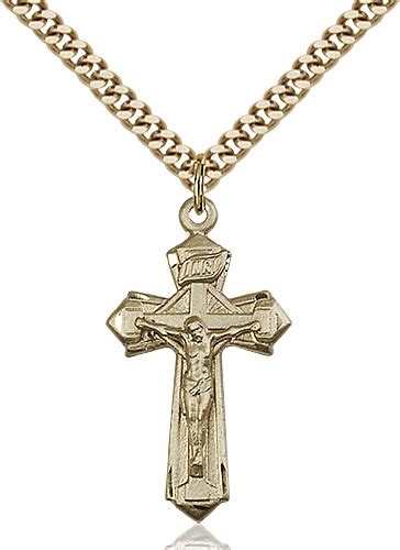 crucifix necklace gold filled 88127