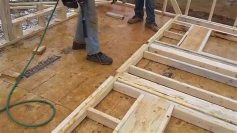 stick frames to wall stick framing 9 walls with 7 16 quot osb sheathing