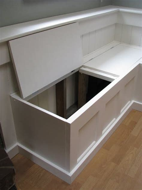 How To Build Banquette Seating With Cabinets by Hinged Top For Banquette Home Design Nooks