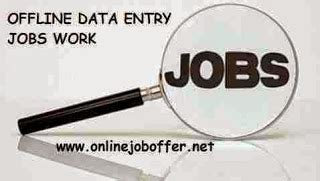 Online Offline Work From Home - offline data entry jobs work from home without any investment 2016 online part