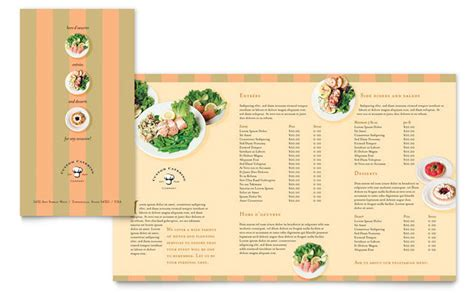 free catering business card and brochure templates catering company take out brochure template design