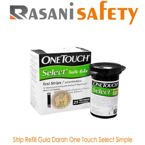 Alat Tes Gula Darah One Touch refill gula darah one touch select simple murah