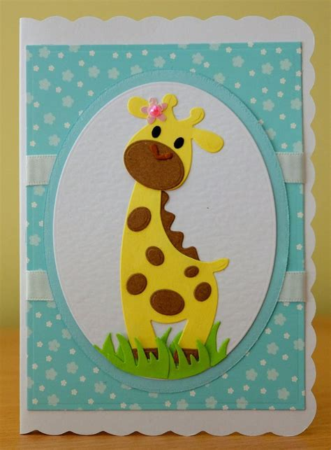 Childrens Handmade Birthday Cards - handmade birthday card marianne collectables giraffe die