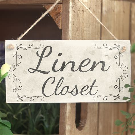 Signs Closet by Linen Closet Handmade Country Shabby Style Wooden