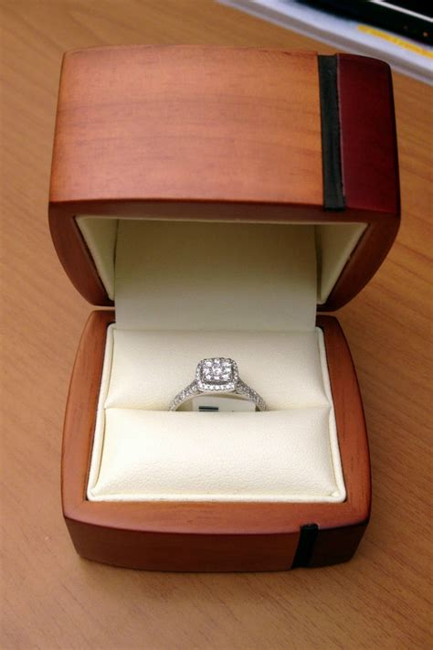 engagement ring boxes texas wood single ring jewelry gift box engagement great