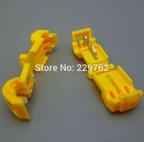 Jumper Kabel Yellow Scotch Lock Splice Wire Connector Terminal 100pcs yellow wire cable connectors terminals crimp scotch lock splice electrical car