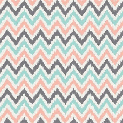 coral pattern mint gray coral zigzag pattern print by heartlocked society6