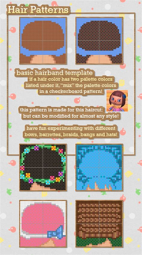 acnl hair palette 1000 images about animal crossing clothing on pinterest