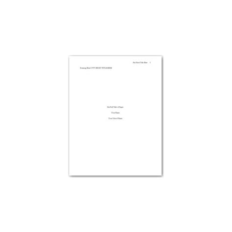 apa template for pages thesis cover page format
