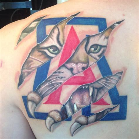 arizona tattoo slideshow arizona wildcats fans showing their u of a