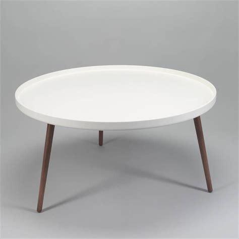 Salontafel Rond Vtwonen salontafel radius rond wit walnoot deconation huis