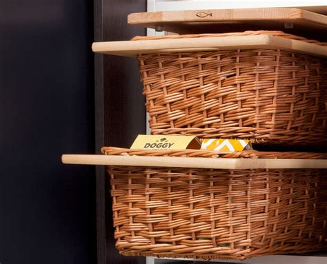 pantry pull out wicker baskets modern other metro by