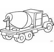 Kolorowanka Samoch&243d Ciężarowy  Betoniarka Kolorowanki