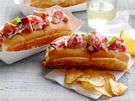 recipe lobster roll lobster rolls recipe food network kitchen food network