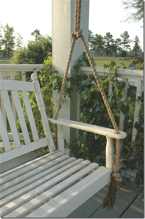porch swing with rope we ve been planning on a porch swing addition i luv how