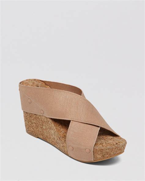 Wedges Slip On Korea 1 lyst lucky brand platform wedge slide sandals miller2 in