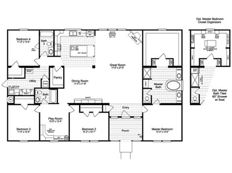 4 bedroom modular home prices 4 bedroom modular home floor plans