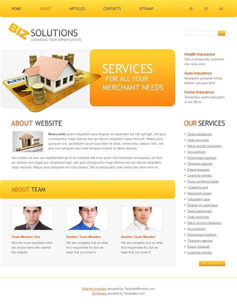 free business site templates free business solutions website template