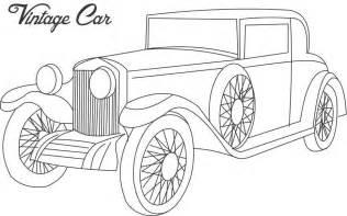 vintage car coloring printable kids 3