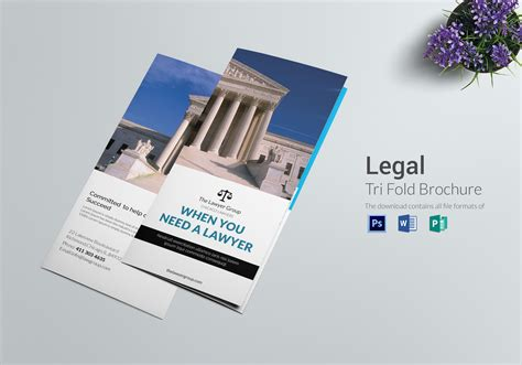 Legal Brochure Tri Fold Design Template In Psd Word Publisher Vistaprint Trifold Brochure Template