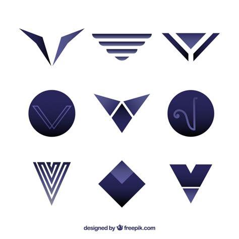 imagenes vectores logos colecci 243 n de logos modernos de la letra v descargar