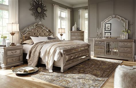 ashley queen bedroom set ashley furniture b720 birlanny traditional queen king