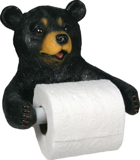 bear toilet paper holder black bear toilet roll holder