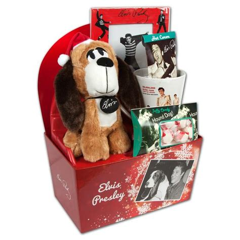 elvis presley hound dog winter gift set