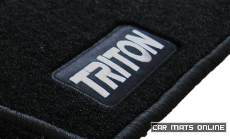 triton mitsubishi logo car mats mitsubishi triton